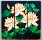 P3-34 Lukisan Panel Bunga Lotus