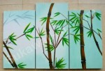 P3-81 Lukisan Panel Set Bambu
